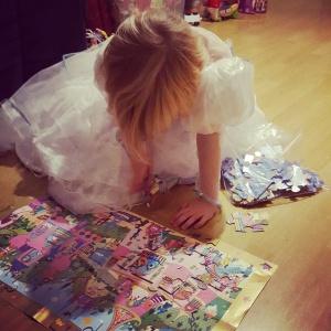 Princesse conentrée